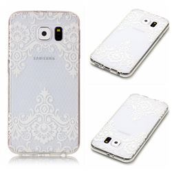 Diagonal Lace Super Clear Soft TPU Back Cover for Samsung Galaxy S6 G920