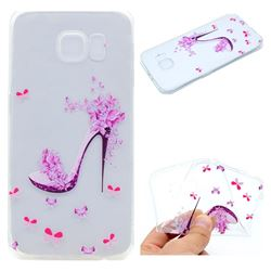 Petal High Heels Super Clear Soft TPU Back Cover for Samsung Galaxy S6 G920