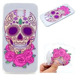 Skeleton Flower Super Clear Soft TPU Back Cover for Samsung Galaxy S6 G920