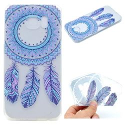 Blue Feather Campanula Super Clear Soft TPU Back Cover for Samsung Galaxy S6 G920