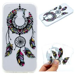 Feather Black Wind Chimes Super Clear Soft TPU Back Cover for Samsung Galaxy S6 G920