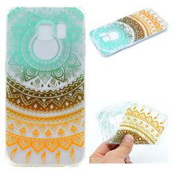 Tribe Flower Super Clear Soft TPU Back Cover for Samsung Galaxy S6 G920