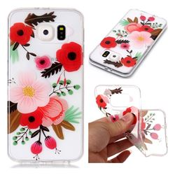 Painting Flowers Super Clear Soft TPU Back Cover for Samsung Galaxy S6 G920