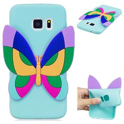 Rainbow Butterfly Soft 3D Silicone Case for Samsung Galaxy S6 G920