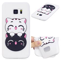 Couple Cats Soft 3D Silicone Case for Samsung Galaxy S6 G920
