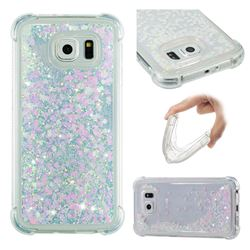 Dynamic Liquid Glitter Sand Quicksand Star TPU Case for Samsung Galaxy S6 G920 - Pink