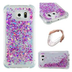 Dynamic Liquid Glitter Sand Quicksand Star TPU Case for Samsung Galaxy S6 G920 - Rose