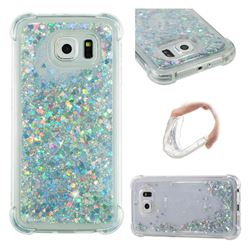 Dynamic Liquid Glitter Sand Quicksand Star TPU Case for Samsung Galaxy S6 G920 - Silver