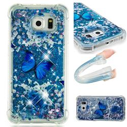 Flower Butterfly Dynamic Liquid Glitter Sand Quicksand Star TPU Case for Samsung Galaxy S6 G920