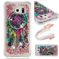 Seal Wind Chimes Dynamic Liquid Glitter Sand Quicksand Star TPU Case for Samsung Galaxy S6 G920