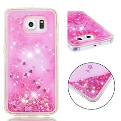 Dynamic Liquid Glitter Quicksand Sequins TPU Phone Case for Samsung Galaxy S6 G920 - Rose