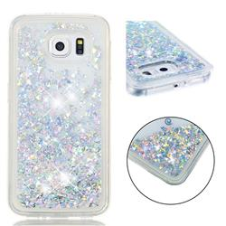Dynamic Liquid Glitter Quicksand Sequins TPU Phone Case for Samsung Galaxy S6 G920 - Silver