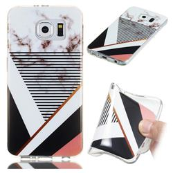 Pinstripe Soft TPU Marble Pattern Phone Case for Samsung Galaxy S6 G920