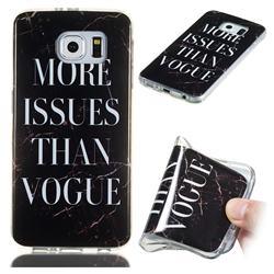Stylish Black Soft TPU Marble Pattern Phone Case for Samsung Galaxy S6 G920