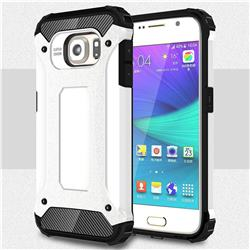 King Kong Armor Premium Shockproof Dual Layer Rugged Hard Cover for Samsung Galaxy S6 G920 - White