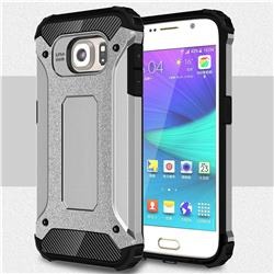 King Kong Armor Premium Shockproof Dual Layer Rugged Hard Cover for Samsung Galaxy S6 G920 - Technology Silver