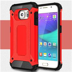 King Kong Armor Premium Shockproof Dual Layer Rugged Hard Cover for Samsung Galaxy S6 G920 - Big Red