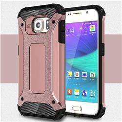 King Kong Armor Premium Shockproof Dual Layer Rugged Hard Cover for Samsung Galaxy S6 G920 - Rose Gold