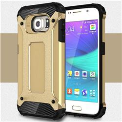 King Kong Armor Premium Shockproof Dual Layer Rugged Hard Cover for Samsung Galaxy S6 G920 - Champagne Gold