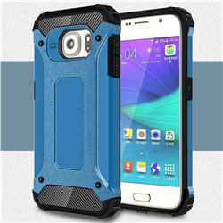King Kong Armor Premium Shockproof Dual Layer Rugged Hard Cover for Samsung Galaxy S6 G920 - Sky Blue