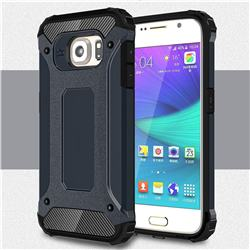 King Kong Armor Premium Shockproof Dual Layer Rugged Hard Cover for Samsung Galaxy S6 G920 - Navy