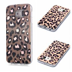 Leopard Galvanized Rose Gold Marble Phone Back Cover for Samsung Galaxy S6 G920