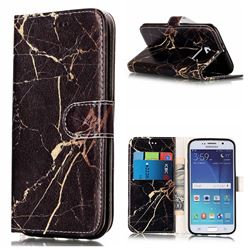 Black Gold Marble PU Leather Wallet Case for Samsung Galaxy S6