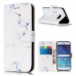 Soft White Marble PU Leather Wallet Case for Samsung Galaxy S6
