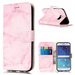 Pink Marble PU Leather Wallet Case for Samsung Galaxy S6