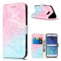 Pink Green Marble PU Leather Wallet Case for Samsung Galaxy S6