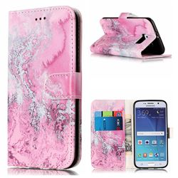 Pink Seawater PU Leather Wallet Case for Samsung Galaxy S6