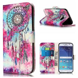Butterfly Chimes PU Leather Wallet Case for Samsung Galaxy S6