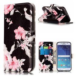 Azalea Flower PU Leather Wallet Case for Samsung Galaxy S6