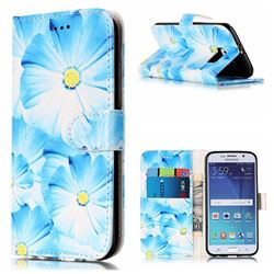 Orchid Flower PU Leather Wallet Case for Samsung Galaxy S6