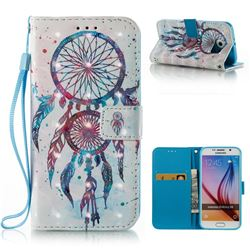ColorDrops Wind Chimes 3D Painted Leather Wallet Case for Samsung Galaxy S6 G920