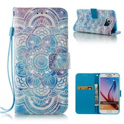 Mandala 3D Painted Leather Wallet Case for Samsung Galaxy S6 G920