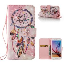 Bead Wind Chimes 3D Painted Leather Wallet Case for Samsung Galaxy S6 G920
