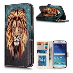 Ice Lion 3D Relief Oil PU Leather Wallet Case for Samsung Galaxy S6 G920