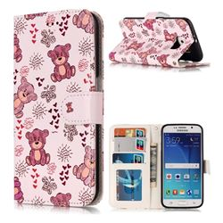 Cute Bear 3D Relief Oil PU Leather Wallet Case for Samsung Galaxy S6 G920