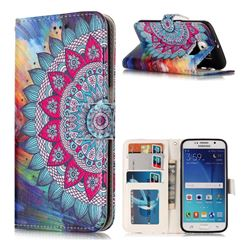 Mandala Flower 3D Relief Oil PU Leather Wallet Case for Samsung Galaxy S6 G920