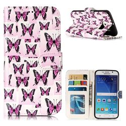 Butterflies Stickers 3D Relief Oil PU Leather Wallet Case for Samsung Galaxy S6 G920
