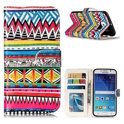 Tribal Pattern 3D Relief Oil PU Leather Wallet Case for Samsung Galaxy S6 G920