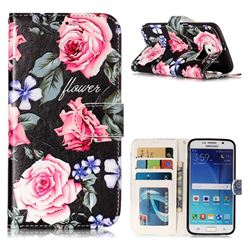 Peony 3D Relief Oil PU Leather Wallet Case for Samsung Galaxy S6 G920