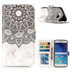 Marble Mandala 3D Relief Oil PU Leather Wallet Case for Samsung Galaxy S6 G920