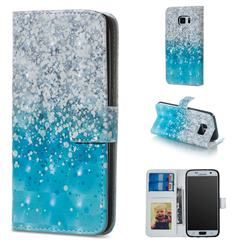 Sea Sand 3D Painted Leather Phone Wallet Case for Samsung Galaxy S6 G920