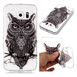 Staring Owl Super Clear Soft TPU Back Cover for Samsung Galaxy S6 Edge G925