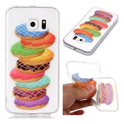 Melaleuca Donuts Super Clear Soft TPU Back Cover for Samsung Galaxy S6 Edge G925