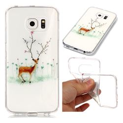 Branches Elk Super Clear Soft TPU Back Cover for Samsung Galaxy S6 Edge G925
