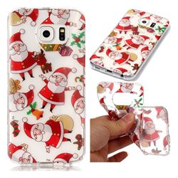 Santa Claus Super Clear Soft TPU Back Cover for Samsung Galaxy S6 Edge G925