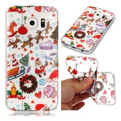 Christmas Playground Super Clear Soft TPU Back Cover for Samsung Galaxy S6 Edge G925